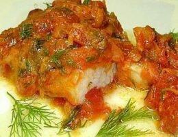 Миниатюра к статье Филе хека, запеченное с овощами под сырным омлетом